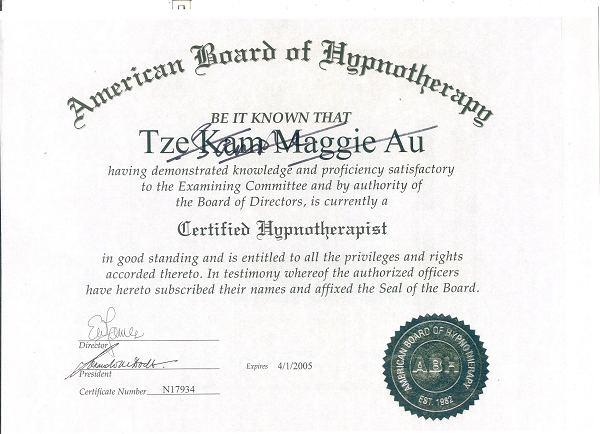 ABH催眠证书